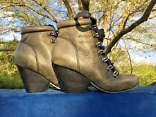 OTBT Ritchie in Timberland Country Combat High Heels Boots Shoes Women Sz 6.5