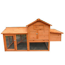 New X-LARGE Chicken Rabbit Guinea Pig Ferret Coop House Hutch with Egg cage T046