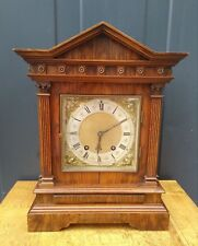 Antique Lenzkirch Large German Mantle Clock - walnut - 15 min striking - 40 cm