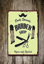 Barbier Metallschild Barbier Dekor SCHILD WAND KUNST Plaketten Barbier 348