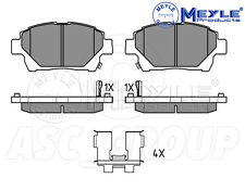 Meyle Brake Pad Set, Front Axle With anti-squeak plate 025 235 1015/W