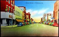 1930's Postcard Street Scene in Valdosta Georgia