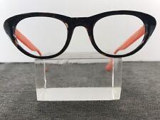 Isaac Mizrahi Eyeglasses IMR5 22 R2.5 48-22-140 Tortoise Pink Cats Eye A78