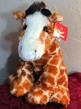 "Sitting Giraffe Plush Stuffed Animal 12"" Aurora World new with tags"