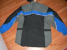 Ski Doo Bombardier snowmobile coat jacket blue black size large