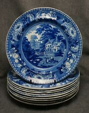 "Historical Staffordshire BRADFIELD PLATES 8 5/8"" - Set of 10"