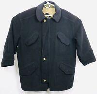 Vintage 80s Hugo Boss Original Piece Green Cashmere Wool Coat XL