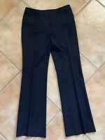 Lafayette 148 New York Womens Sz 4 Black Wool Blend Straight Leg Dress Pants