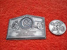 Oldtimerplakette Michelau 1930 und ADAC Medaille Kleinstkraftfahrzeug 1933 Auto