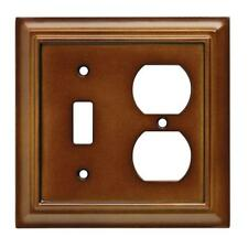 W10770-SDL Brown Architect Single Switch / Single Duplex Outlet Cover Plate