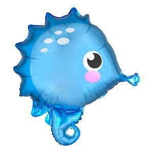 Mermaid Cute Blue Seahorse Foil Party Balloon Decoration 53cm