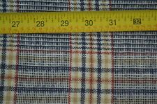 """By 1/2 Yd, 60"""" Wide, Navy Red & Cream Tartan/Plaid Lt-to-Mid-Weight Wool, M7763"""