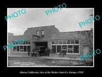 OLD LARGE HISTORIC PHOTO OF ALTURAS CALIFORNIA THE MODOC MOTOR GARAGE c1920