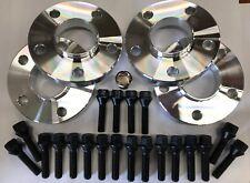 ALLOY WHEEL SPACERS 16mm X 4 + M12X1.5 B BOLTS LOCKS FOR 5X110 65.1 VAUXHALL