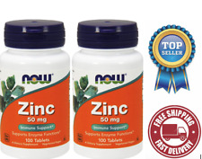 Now Foods - Zinc 50 mg 100 Tablets - 2 Packs