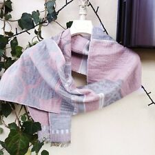 Sciarpa Un Jour Ailleurs duble face grigia rosa con fili argento argentata zara
