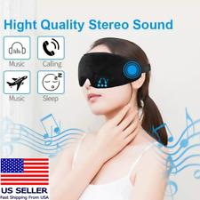 Bluetooth Music Headphones Sleep Eye Mask Washable Travel Sleeping Mask