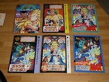 DRAGON BALL Z DBZ JUMBO CARDDASS LOT CARD 6 CARTES MADE IN JAPAN