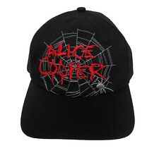 Alice Cooper Embroidered Spider Web Logo Black Baseball Hat Cap New Official