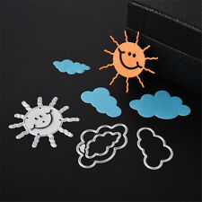4pcs Nice Sun Cloud Scrapbook DIY album Card metal troquelado stencil CraftHJ