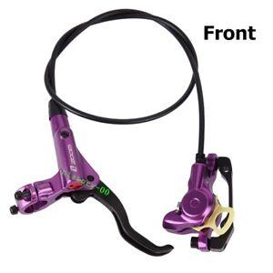 ZOOM MTB Mountain Bike Hydraulic Disc Brakes Calipers Brake lever Front Purple