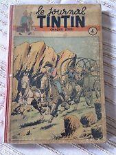 recueil reliure journal tintin belge no 4 (1947) couv le rallic côte BDM + 700e