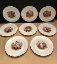 Eight Vtg. Beyer & Bock Dessert Plates Angelica Kaufmann Mythological Scenes