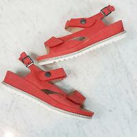 [ DIANA FERRARI ] Supersoft Womens Leather Platform Sandals Shoes  | Size EUR 40