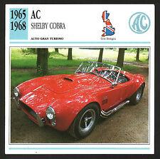 SCHEDA TECNICA AUTO - CAR DATA - AC SHELBY COBRA - 1965/1968 - GRAN BRETAGNA