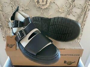 DR. MARTENS | Men's 11 US (10 UK) Black Brando Gryphon Gladiator Strap Sandals