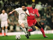 Dual Signed Robbie Fowler & Emile Heskey Photo. 16x12. LFC. Leeds.YNWA. Freepost