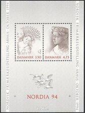 Denmark 1992 Queen Margaret I/Painting/Statue/Art/StampEx 2v m/s (n42649)
