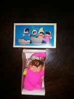 Vintage 1970s Fun World Little Miss Matchpack Mini Doll Pink Hong Kong
