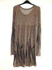 Gorgeous Brown & Black Long Sleeve Dress from Vila - Size 10 - BNWOT!!
