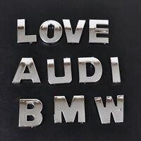 40X Chrom Auto Aufkleber 3D Buchstaben Nummer Emblem Badge DIY A-Z & 0 -9 & : @