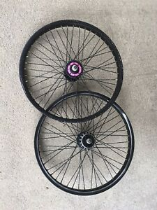 Araya 7x Schwinn Yo! 48's Black Pink Old School Bmx Predator Vintage Rims Wheels