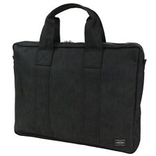 New PORTER SMOKY BRIEF CASE (L) 592-07505 Black From JP