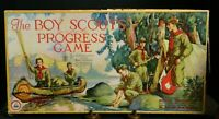 Antique Boy Scout Progress Board Game Parker Bros. In Box (1926) Good-Very Good