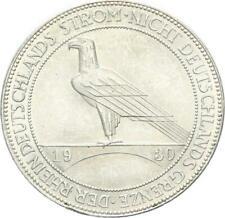 Weimarer Republik 5 Reichsmark 1930 F Rheinland Silber f. stgl. J 346
