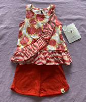 Burt's Bees Baby Girls' Organic Cotton grapefruit print Tunic & shorts Size 0-3M