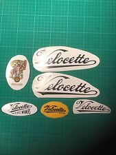 Velocette decals bsa norton triumph ajs tiger cub tool box casque vélo autocollants