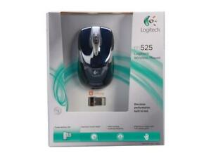 Brand New Logitech Wireless Mouse M525 - Navy/Grey In Retail Box