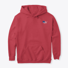 USA Country Flag Red Hoodie
