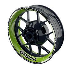 Felgenaufkleber Motorrad Felgenrandaufkleber Wheelsticker Yamaha Saw grün