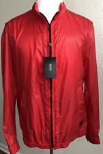 d8651be3ce NWT $395 Boss Hugo Boss Black Label Colis Rain Jacket Bright Red Size 42R US