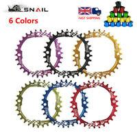 UK 30T Single Round Narrow Wide Chainring 104bcd MTB Road Bike Chainwheel bolts