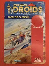Vintage Thall Joben Droids 12 back cardback - Star Wars Droids - Excellent Cond