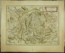Henri Hondius XVIIe Carte du NIVERNOIS Nièvre Nevers Bourgogne Amsterdam 1635