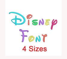 "Disney Font Embroidery Design 1/2/3/4/"" hus, pes INSTANT DOWNLOAD"