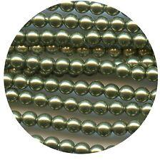 20 perles 6 mm cristal nacré Swarovski LIGHT GREEN
